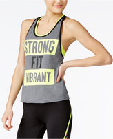 Energie Active Juniors' Layered-Look Racerback Graphic Tank Top