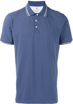 Brunello Cucinelli striped trim polo shirt - men - Cotton - M