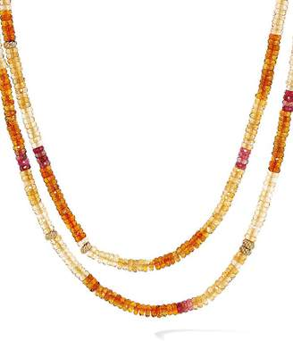 David Yurman Tweejoux Necklace in 18K Yellow Gold with Madeira Citrine