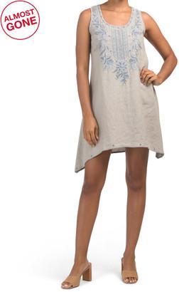 Maike Linen Trapeze Tunic Dress