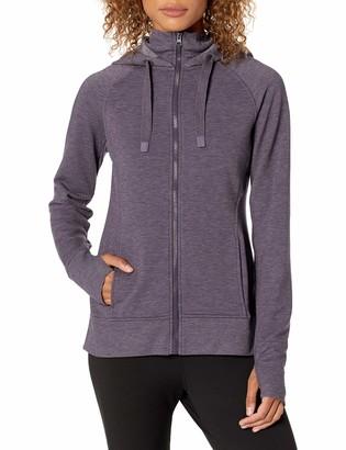 Jockey Women's Double Collar Full Zip Hooded Jacket
