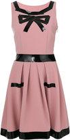 Moschino patent trim A-line shift dress