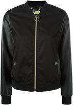 Versace contrast sleeve bomber jacket - women - Cotton/Polyester/Spandex/Elastane - 40