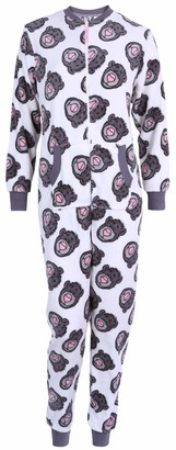 Disney  :  The Jungle Book White All in One Piece Pyjama Onesie for Ladies Baloo The Jungle Book Disney S