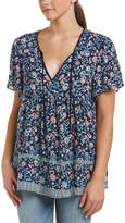 Glam Summer Floral Peasant Top
