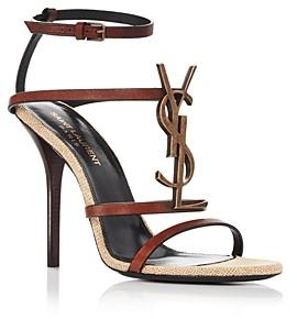 Saint Laurent Women's Cassandra Strappy High-Heel Sandals