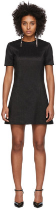 Saint Laurent Black Silk A-Line Dress