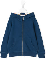 Burberry checked lining hoodie - kids - Cotton - 4 yrs