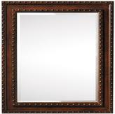 Home Decorators Collection Harlow 22 in. W x 30 in. L Framed Wall Mirror in Dark Brown
