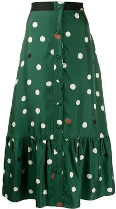 Parker Chinti & polka dot midi skirt