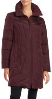 Anne Klein Convertible Collar Quilted Down Coat