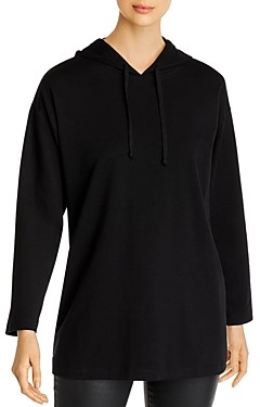 Eileen Fisher Petites Hooded Long Boxy Top