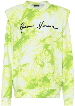 Versace Tie-dye cotton sweatshirt