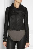 Rick Owens Blister washed-leather biker jacket