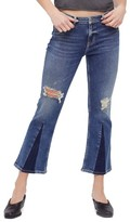 Free People Women's Colorblock Crop Jeans