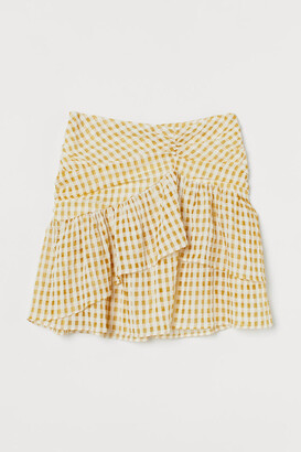 H&M Draped flounced skirt