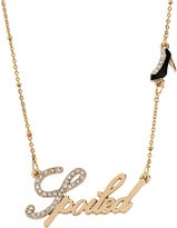 Betsey Johnson Word Necklace Spoiled With Shoe