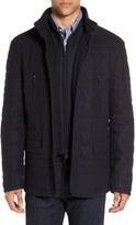 Corneliani Men's Quilted Wool Blend Coat With Bib