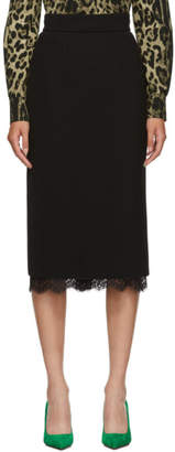 Dolce & Gabbana Black Pencil Skirt