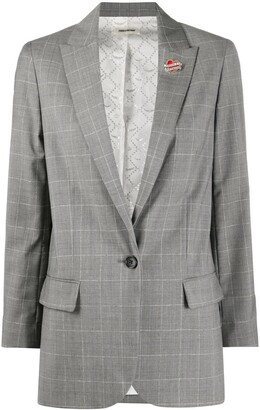 Zadig & Voltaire Single-Breasted Check Blazer
