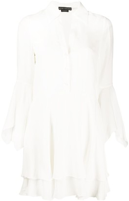 Alice + Olivia Layered Button Down Shirt Dress