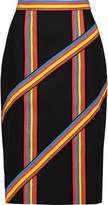 Peter Pilotto Striped crepe de chine skirt