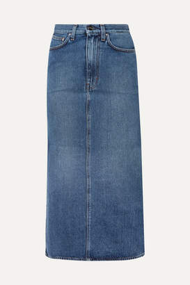 Totême Bitti Denim Midi Skirt - Mid denim