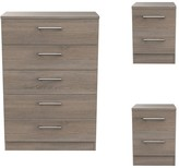 Swift Halton Ready Assembled3Piece Package -5 Drawer Chest and 2 Bedside Chests