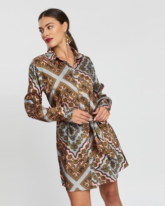 boohoo Paisley Print Shirt Dress