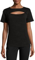 MICHAEL Michael Kors Short-Sleeve Cutout Top, Black