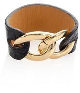 Michael Kors Autumn Luxe Croc-Embossed Leather & Chain Bracelet