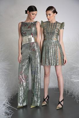 Tony Ward Sequin Embellished Jumpsuit