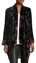 Johnny Was Vella Floral-Print Velvet Kimono