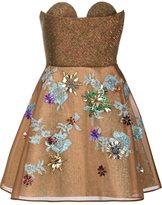 DELPOZO strapless short dress