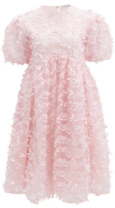 Cecilie Bahnsen Tira Floral-applique Tulle Mini Dress - Light Pink