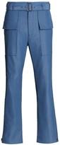 Salvatore Ferragamo Flap Pocket Cotton-Linen Pants