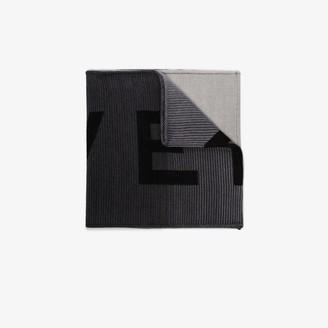 Givenchy Black and grey logo wool scarf