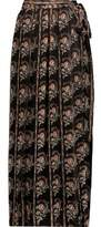 Etoile Isabel Marant Sesley Floral-Print Silk-Voile Maxi Wrap Skirt