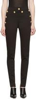 Balmain Black Gold Buttons Jeans