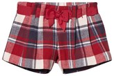 Mayoral Red and Navy Check Bow Shorts