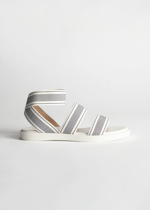 And other stories Striped Elastic Strap Sandal