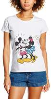 Disney Women's Mickey Mouse Minnie Kiss Tops