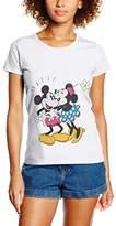 Disney Women's Mickey Mouse Minnie Kiss Tops