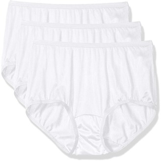 Shadowline Women's Panties-Nylon Modern Brief (3 Pack)