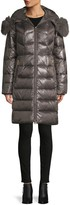 1 Madison Quilted Fox Fur-Trim Down Coat