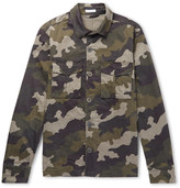 Tomas Maier - Slim-fit Camouflage-print Stretch-cotton Overshirt