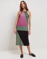 Jaeger Block Print Racer Dress