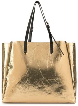 No.21 Metallic-Finish Tote Bag