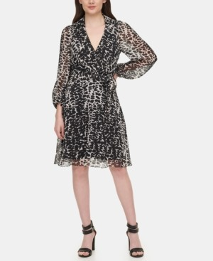 DKNY Balloon Sleeve Shirtdress
