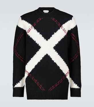Alexander McQueen Wool and cashmere intarsia sweater